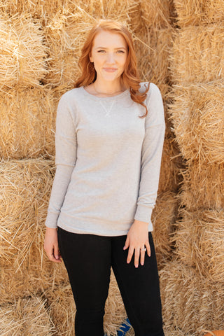 Sadie's Simple Sweater in Gray - M & H