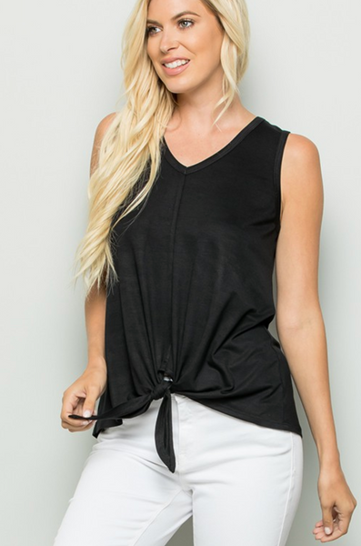 Beautiful Everyday Front Tie Tank