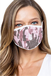 Pink Camo Face Covering