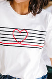 This Is My Heartbeat Embroidered Tee