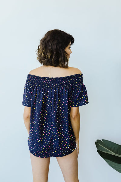 Tiny Twinkling Top In Navy
