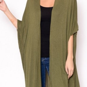 Oversized Cardigan in Olive