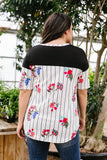 Backyard Flower Garden Top - M & H