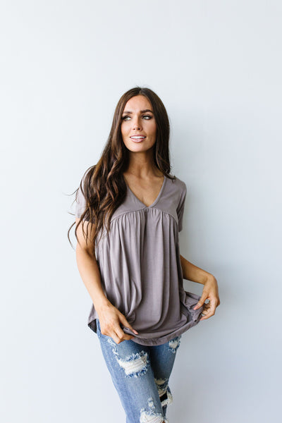 Bamboo Knit Top In Mocha