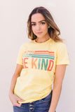Be Kind Graphic Tee In Lemon IN STORE