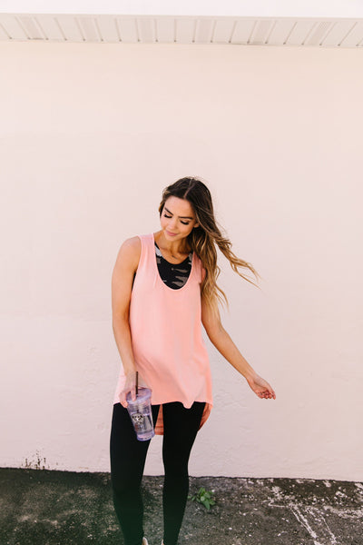 Draped-Back Longline Top