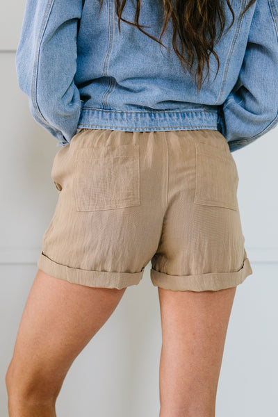 Drawstring Daydream Shorts In Sand