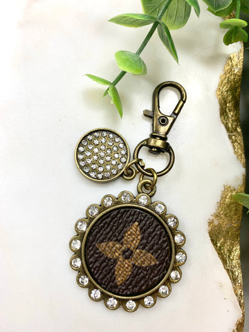 Canvas Keychains Antique Gold