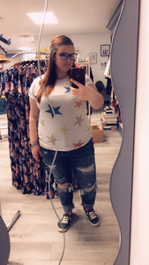 Pastel Colored Star Top with Cuffs