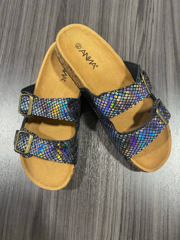 Iridescent Mermaid Double Strap Sandal - M & H