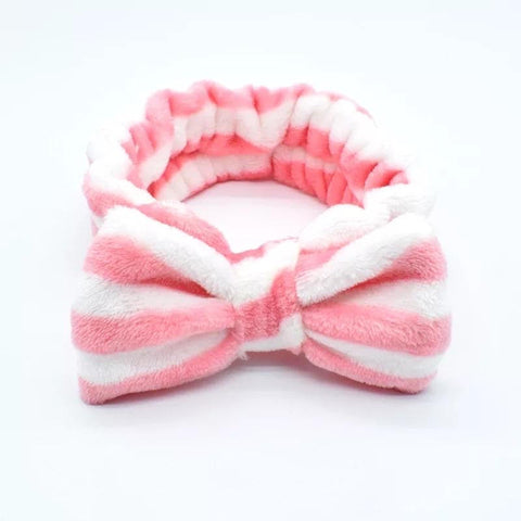 Striped Fleece Spa Headband - M & H