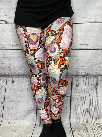 Lovely Coffee Leggings - M & H