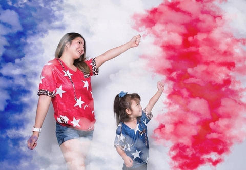 Mommy and Me Patriotic Hoodies (2 colors available) - M & H