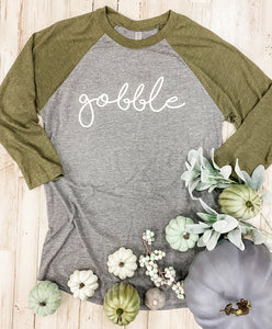 Gobble Raglan Tee - military green