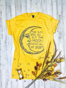 The Moon Knows All My Secrets Graphic Tee