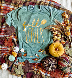 Fall Lover Graphic Tee With Foil Print