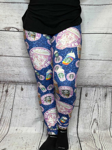 Coffee Queen Leggings - available in PS2 only (16/18 - 24) - M & H