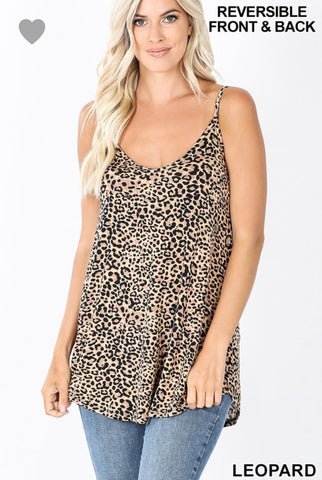 Leopard Print Front and Back Reversible Cami - M & H