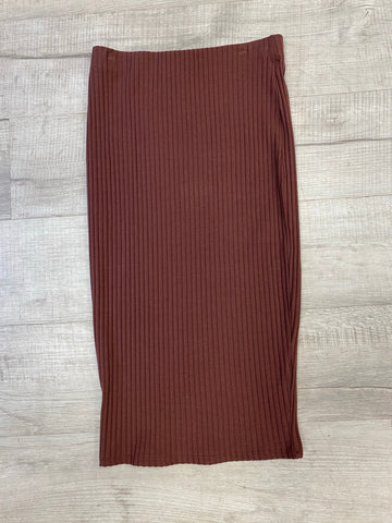 Brown Pencil Skirt - M and H