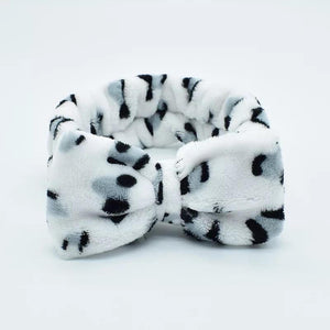 Animal Print Fleece Spa Headband - M & H
