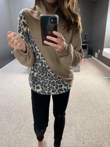 Leopard Open Neck Top - M & H