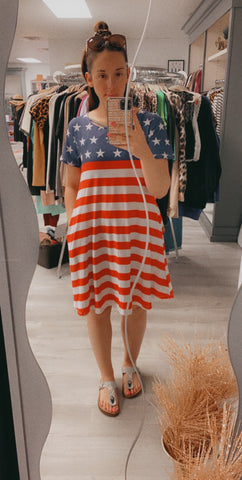 Patriotic Swing Dress with Pockets - PLUS available