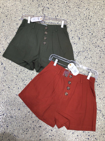 Paper Bag Button Fly Shorts - M & H