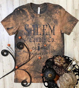Salem Candle Co Graphic Tee - distressed dark grey