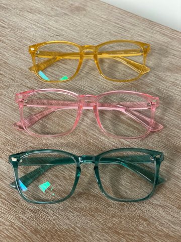 The Paige - custom Optical Grade M & H Blue Light Blockers (6 colors)