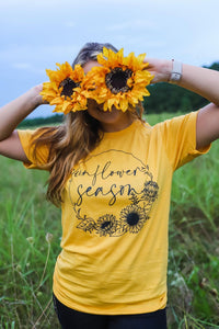 Sunflower Season Graphic Tee - mellow yellow