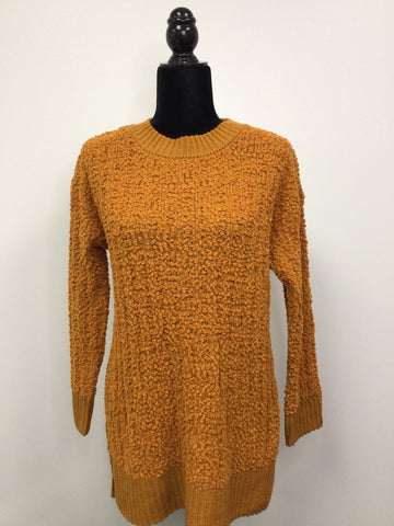 Oversized Popcorn Sweater in Mustard - M & H