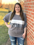 Pave Your Own Way Top in Gray-Size XL Only - M & H