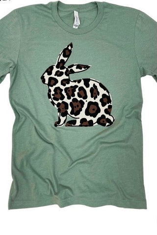 Leopard Bunny Graphic Tee - M & H