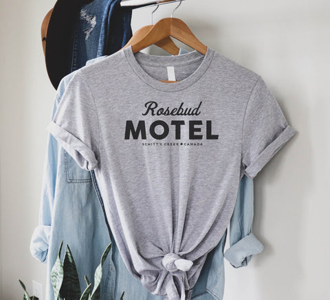 RoseBud Motel in Heather Gray Schitt's Creek Graphic Tee - M & H