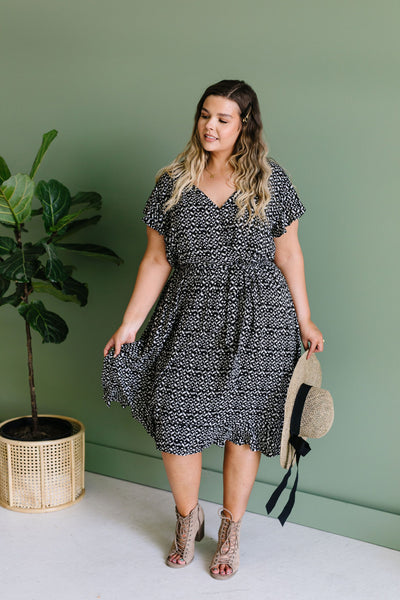 Joanna Midi Dress In Black
