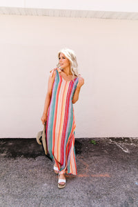 The World Is Your Rainbow Maxi Dress