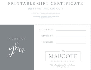 Malicote session and or product gift certificate for ANYTHING!