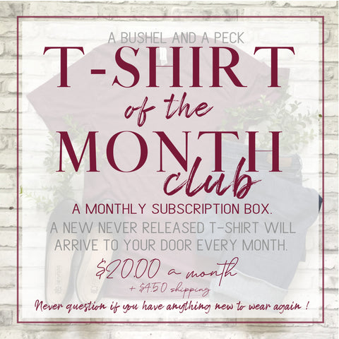 T-SHIRT OF THE MONTH CLUB