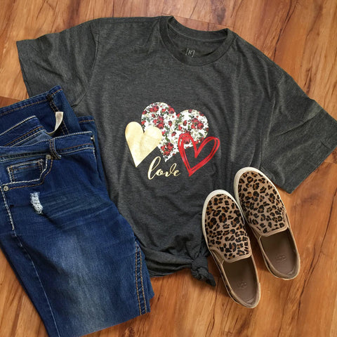LOVE WITH HEARTS SHIRT