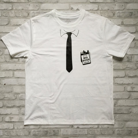 BIG BOSS TIE AND POCKET  T-SHIRT