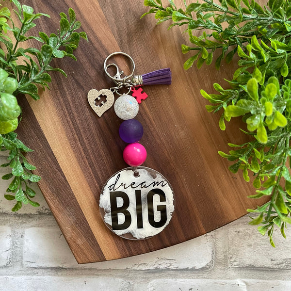 DREAM BIG / AUTISM KEYCHAIN