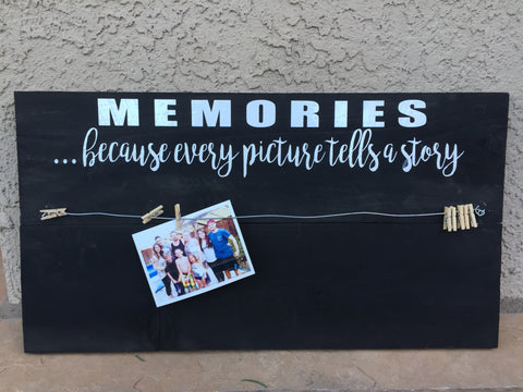 MEMORIES PHOTO HOLDER WOOD SIGN