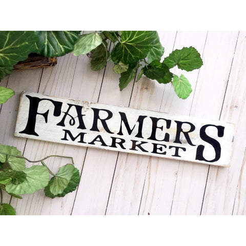 FARMERS MARKET WOOD SIGN