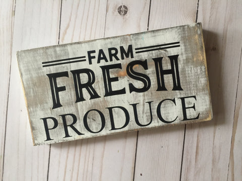 FARM FRESH WOOD SIGN