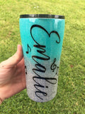 TWO COLOR GLITTER OMBRE TUMBLER