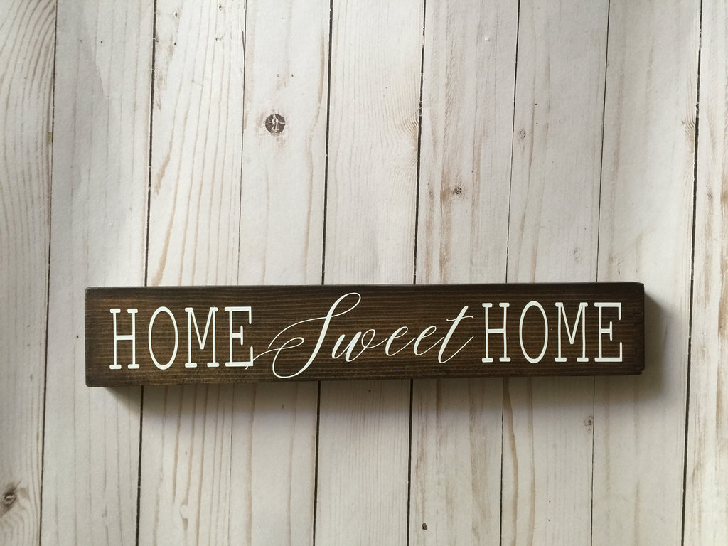 Home Sweet Home Skinny Wood Sign A Bushel And A Peck Designs