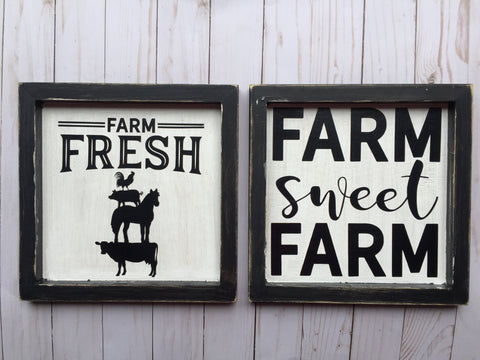 FARM SET WOOD SIGNS