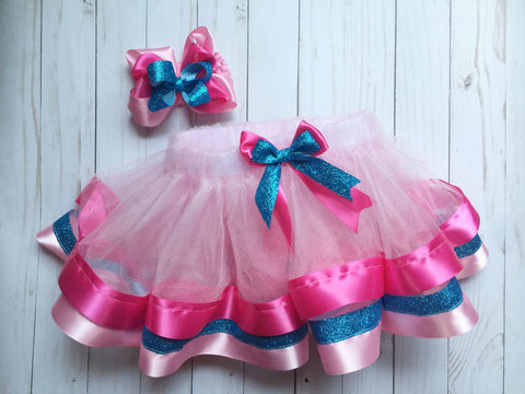 RIBBON EDGE TUTU WITH MATCHING BOW