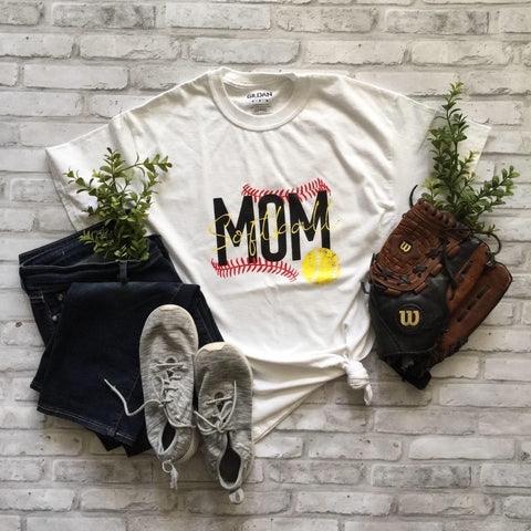 RTS - SOFTBALL MOM T-SHIRT