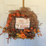Fall Wreath Class at Three Rivers Coffee Shop